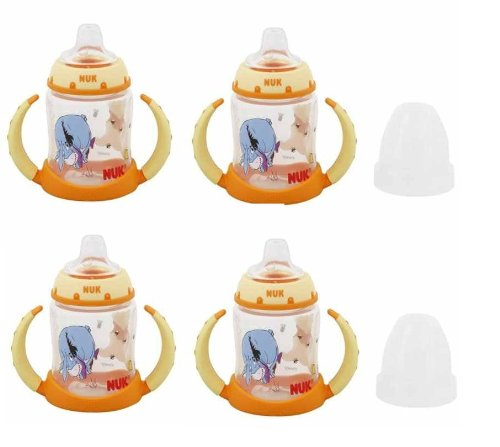 NUK Disney Winnie the Pooh 5 Ounces Learner Cup Silicone Spout, 6+ Months (Pack of 4) - 1