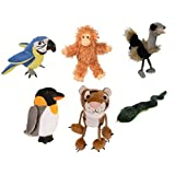 Zoo Animals Finger Puppets Set Of 6