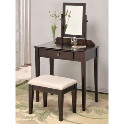 Adf Espresso Space Saver Wood Vanity Set front-6095