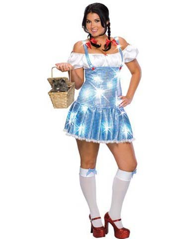 Rubies Costume Co Women's Dorothy Sparkle Plus Size Costume