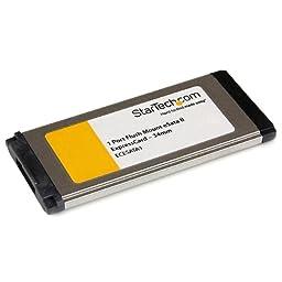StarTech.com 1 Port Flush Mount ExpressCard 34mm eSATA II Controller Adapter Card ECESATA1