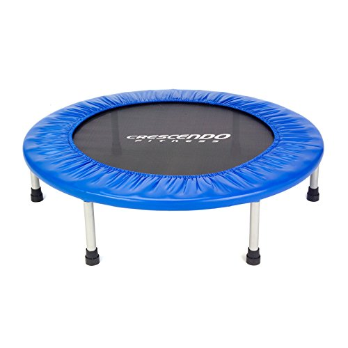 Crescendo Fitness Mini Jump Trampoline, Blue, 40-Inch