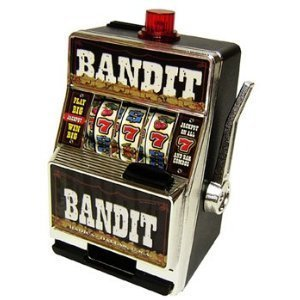 BANDIT SLOT MACHINE SAVINGS BANK - 1