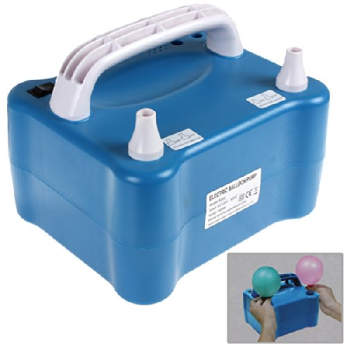 Origlam® Blue 800W Electric Balloon Inflator With Two Nozzles Dual Inflation Ports Balloon Pump