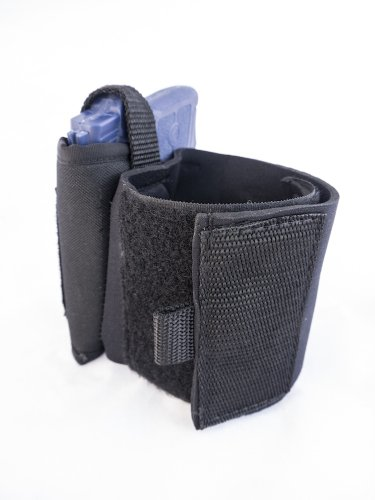 Outbags OB-31ANK (RIGHT) Nylon Neoprene Ankle Holster for Nylon OWB Belt Gun Holster for Ruger LCP, S&W Bodyguard 380, Walther PPK / PPK-S, Beretta 3032, and More