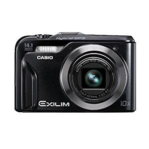 Casio Exilim EX-H20G 14.1 MP Digital Camera with Hybrid GPS (Black) with 8GB Card + (2) Batteries + Case + Tripod + Cleaning & Accessory Kit
