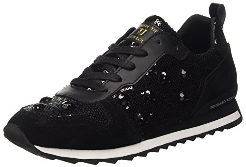 Trussardi Jeans 79S21451, Scarpe Low-Top Donna, Nero, 36 EU
