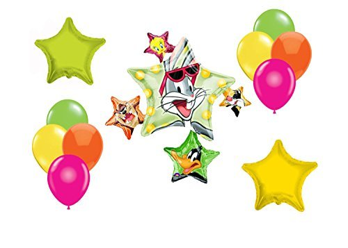 Looney Tunes Mylar Latex Balloons~12ct (Bugs Bunny Spoon compare prices)