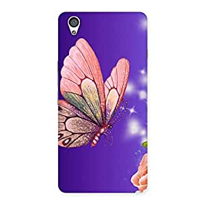 Stylish Butterfly Pinkish Back Case Cover for OnePlus X