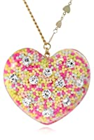 "Betsey Johnson ""Heart Candy Boost"" Candy Filled Heart Long Pendant Necklace, 35"" by Betsey Johnson"
