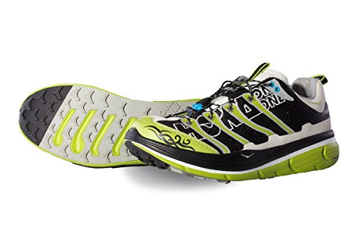Hoka One Uomo Rapa Nui 2, white black lime, scarpa trail, UK 12