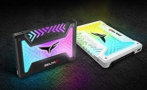 TEAMGROUP T-Force Delta R RGB 500GB 2.5 SATA III 3D NAND Internal Solid State Drive SSD (USB 9pin) - Black (Color: Black, Tamaño: 500GB)