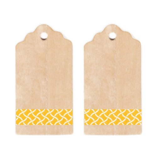 Dress My Cupcake Rustic Wooden Gift And Favors Tags Diy Kit, Yellow Garden Trellis front-10974