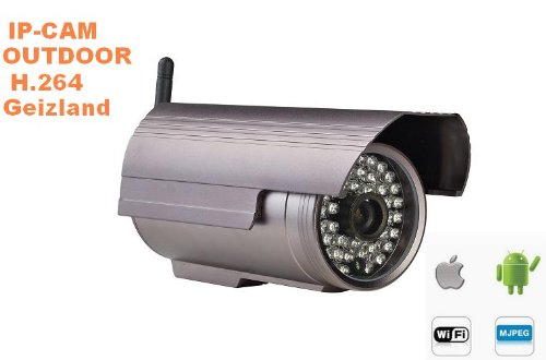IP Camera H.264 Waterproof Wireless WIFI IR Cut SD night Security outdoor Cam