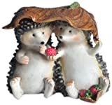 Top Collection Enchanted Story Fairy Garden Hedgehogs Sharing Outdoor Statue