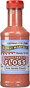 Flufftastic 3 Flavor Party Pack Premium Cotton Candy Floss w/50 Cones, Pint
