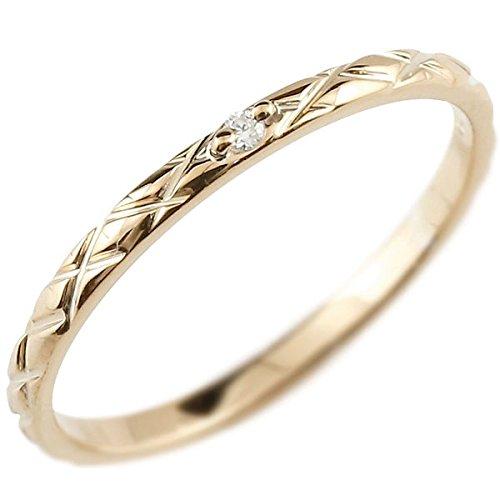 [アトラス] Atrus リング ピンキーリング ピンクゴールド 18金 指輪 ハンドメイド ストレート アンティーク ダイヤモンド ダイヤ まるで着けていない様な着け心地 極細 リング 華奢 ファッションリング 11号