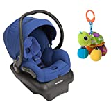 2015 Maxi-Cosi Mico AP Infant Car Seat, Blue Base with Topsy Turtle Mirror Pal