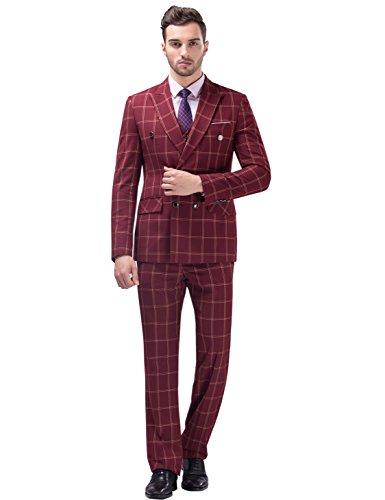 Tsui-Fashion-Mens-Plaid-Vest-Business-Suits-Three-Piece-XZ00277RD