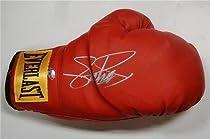 Signed Frank Bruno Red Everlast Boxing Glove Proof   COA