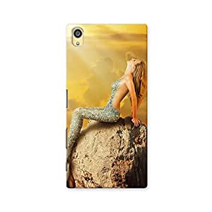 ArtzFolio Mermaid With Fish Tail Swimming In The Sea : Sony Xperia Z5 Matte Polycarbonate ORIGINAL BRANDED Mobile Cell Phone Protective BACK CASE COVER Protector : BEST DESIGNER Hard Shockproof Scratch-Proof Accessories