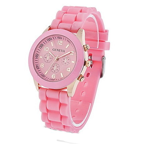 Domire Unisex Geneva Silicone Jelly Gel Quartz Analog Sports Wrist Watch