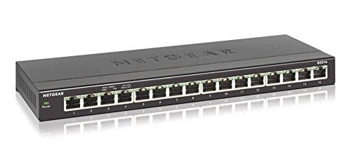 Netgear 16-Port Gigabit Ethernet Desktop Switch (GS316)