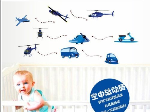 Home Decor Decals Poster House Wall Stickers Quotes Removable Vinyl Large Wall Sticker For Kids Rooms Car Airplane W-22 front-886836