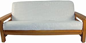 Lifestyle Covers Modern Striped Futon Cover with Colorful Stripes on White Background, Full