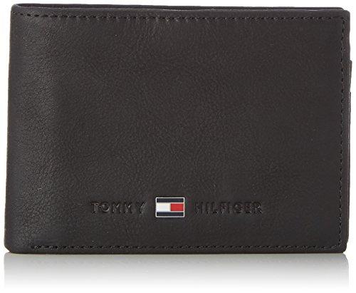 Tommy Hilfiger JOHNSON MINI CC FLAP AND COIN POCKET, Portafoglio uomo, Nero (Schwarz (BLACK 002)), 11x8x2 cm (B x H x T)