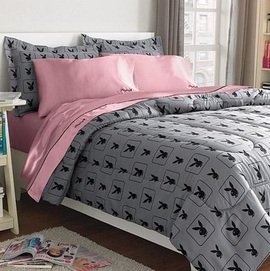 playboy bunny full size bed printed microfiber comforter set w 2