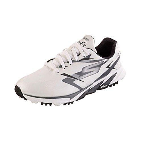 Skechers Performance Men's Go Golf Blade Golf Shoe, White/Black, 9.5 M US