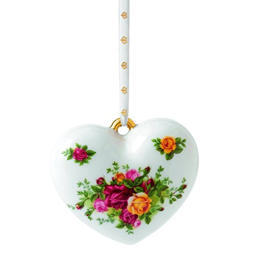 Royal Doulton Old Country Roses Heart Ornament, 2-Inch