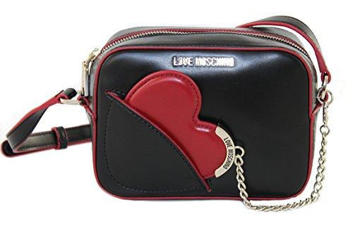 LOVE-MOSCHINO-Tasche-Umhngetasche-Clutch-Bag-JC4237-schwar-rot