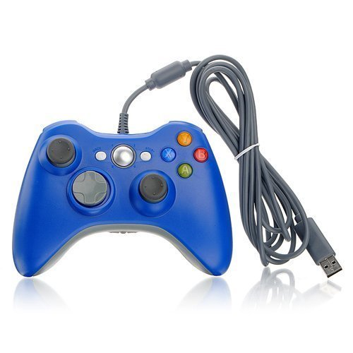 DuaFire Blue Wired USB Game Pad Controller For Xbox 360 (Xbox 360 Wired Blue compare prices)