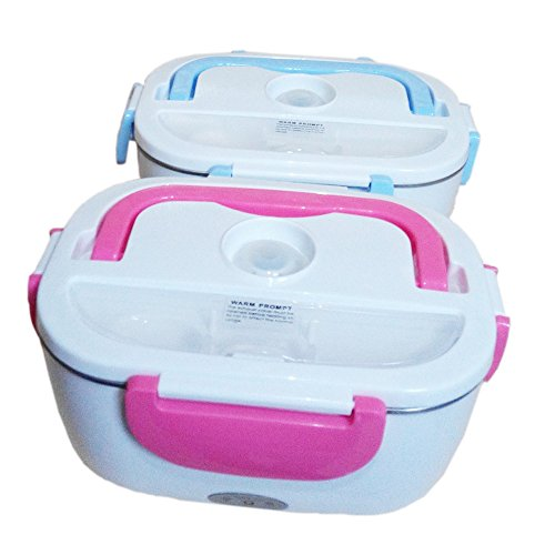 coffled 110v electric heating bento lunch box bpa free plastic food storage c. Black Bedroom Furniture Sets. Home Design Ideas