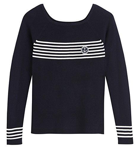 Promod-Pullover-im-Marine-Look-Marineblau-XL