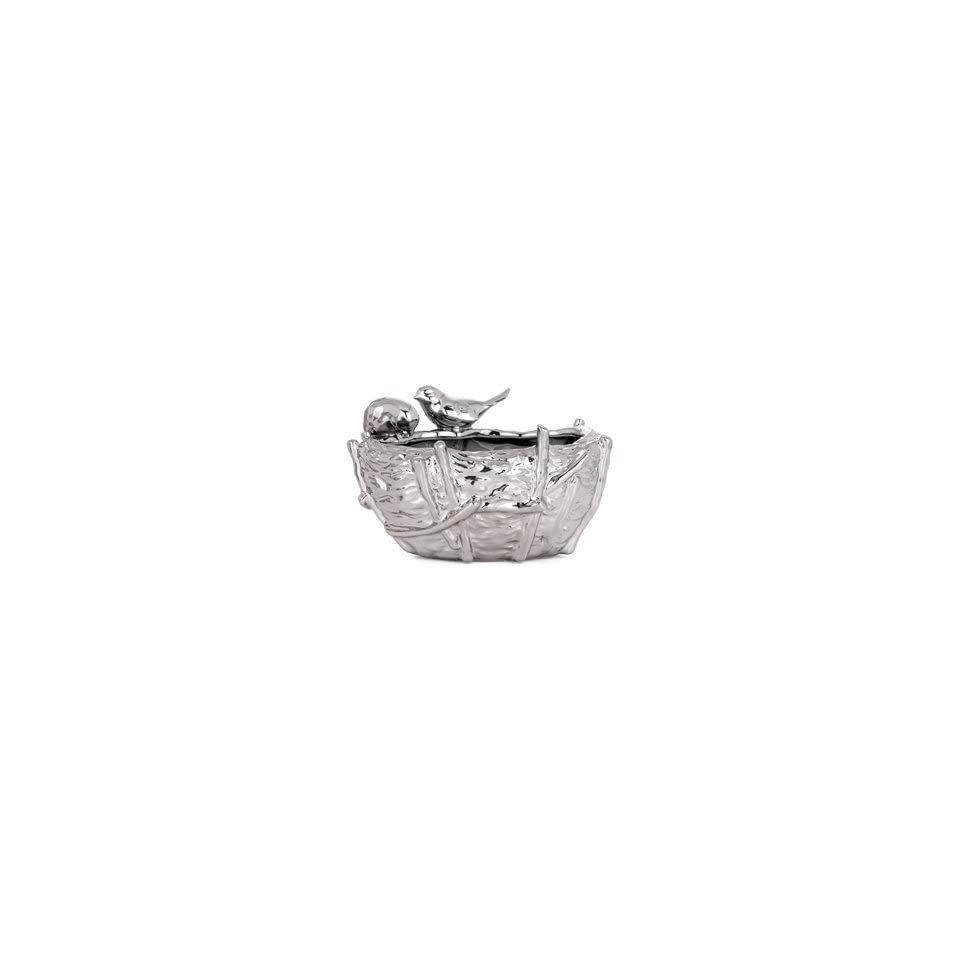 Torre & Tagus Bird Nest Vase, Small, Chrome