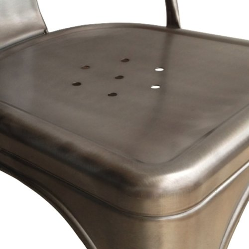 Stella Metal Cafe Side Chair In Quot Gunmetal Quot Finish