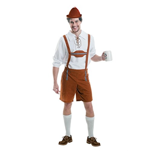Amscan International Adult Men Oktoberfest Lederhosen Costume (Small/Medium)