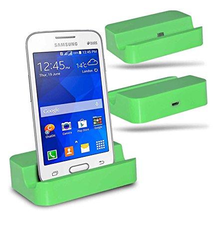 Samsung Galaxy V Plus SM-G318 Station d'accueil de bureau avec chargeur Micro USB support de chargement - Green - By Gadget Giant®