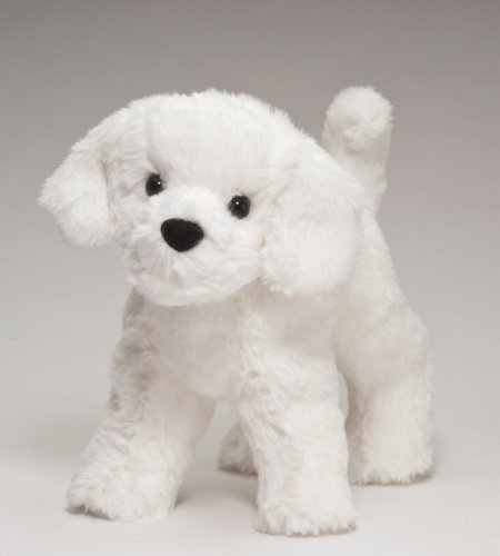 "Plush Dog Stuffed Animal Dandelion Puff Bichon 8"" - 1"