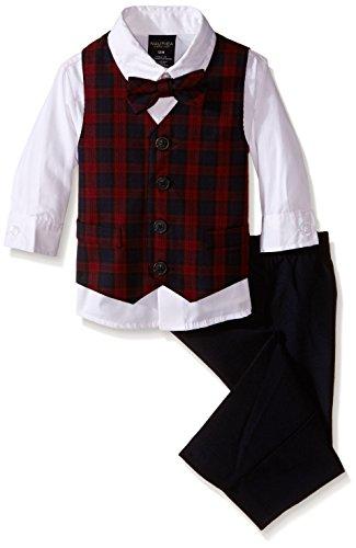 Nautica Baby Boys' Tartan Vest Set, Navy, 18 Months