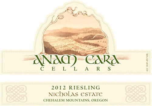 2012 Anam Cara Cellars Chehalem Mountains Riesling 750 Ml
