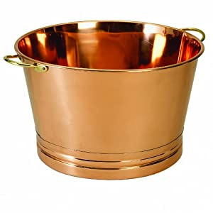 Old Dutch Round Décor Copper Party Tub, 17-1/4 by 10-1/2-Inch