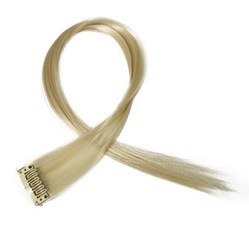 """Bunte Strähnchen 1 x Clip In Extensions 50cm (20"""") Haarverlängerung glatt langhaarHaarteil (23)"""
