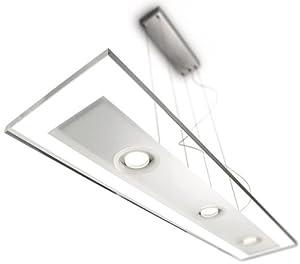 Philips VIDRO Lampadario a Sospensione LED 3x 7.5 W, Lampadina Inclusa ...