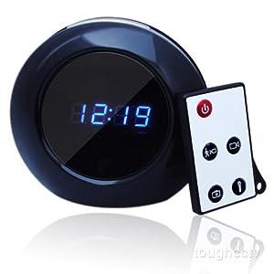 Toughsty 1280x960 HD Alarm Clock Hidden Camera Motion Detective Mini DVR 140° View Angle
