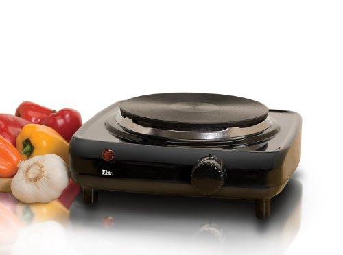 Elite Cuisine ESB-301BF Maxi-Matic 1000 Watt Single Buffet Burner Electric Hot Plate, Black (Electric Hot Burners compare prices)