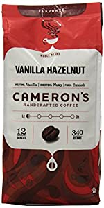 Cameron's Vanilla Hazelnut Whole Bean Coffee, 12-Ounce Bags (Pack of 3)